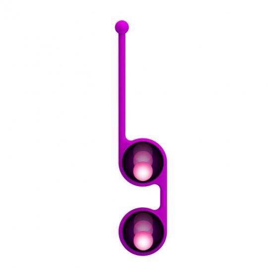 Лиловые вагинальные шарики Kegel Tighten Up III (цвет -лиловый) (100095) фото 5