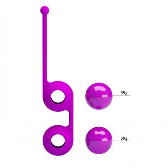 Лиловые вагинальные шарики Kegel Tighten Up III (цвет -лиловый) (100095) фото 3