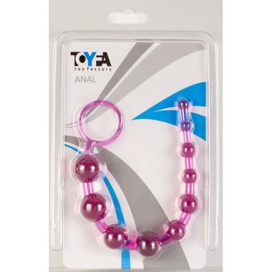 Фиолетовая анальная цепочка с кольцом - 25 см. (цвет -фиолетовый) (10128) фото 2