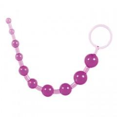 Фиолетовая анальная цепочка с кольцом - 25 см. (цвет -фиолетовый) (10128)