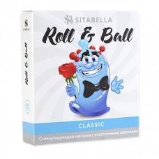 Стимулирующий презерватив-насадка Roll   Ball Classic (цвет -прозрачный) (102423)