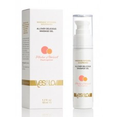 Универсальный массажный гель-смазка Allover Delicious Massage Gel с ароматом персика и абрикоса - 50 мл.(103083)