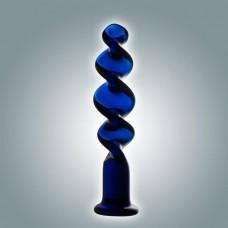 Синий винтовой стимулятор - 18 см. (цвет -синий) (103157)