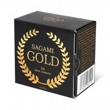 Золотистые презервативы Sagami Gold - 10 шт. (цвет -золотистый) (104337)