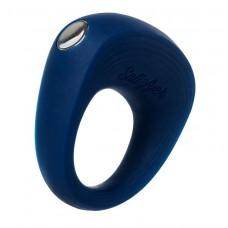 Синее эрекционное кольцо на пенис Satisfyer Power Ring (цвет -синий) (104724)