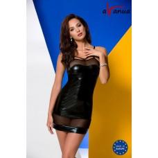 Соблазнительная сорочка из wet-look материала Muriel (цвет -черный)  (размер -S-M) (106598)