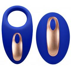 Синее эрекционное виброкольцо Poise с пультом (цвет -синий) (107231)