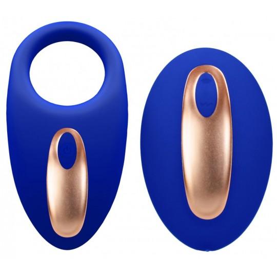 Синее эрекционное виброкольцо Poise с пультом (цвет -синий) (107231) фото 1