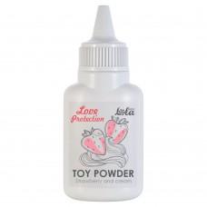 Пудра для игрушек Love Protection с ароматом клубники со сливками - 15 гр.(107684)