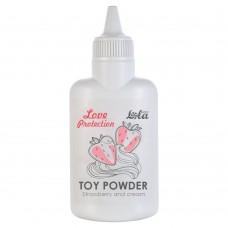 Пудра для игрушек Love Protection с ароматом клубники со сливками - 30 гр.(107685)