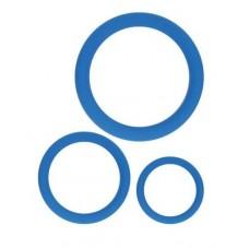 Набор из 3 эрекционных колец синего цвета (цвет -синий) (107767)