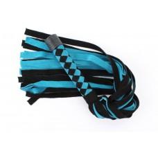 Черно-голубая замшевая плеть с ромбами на ручке - 58 см. (цвет -черный с голубым) (108482)