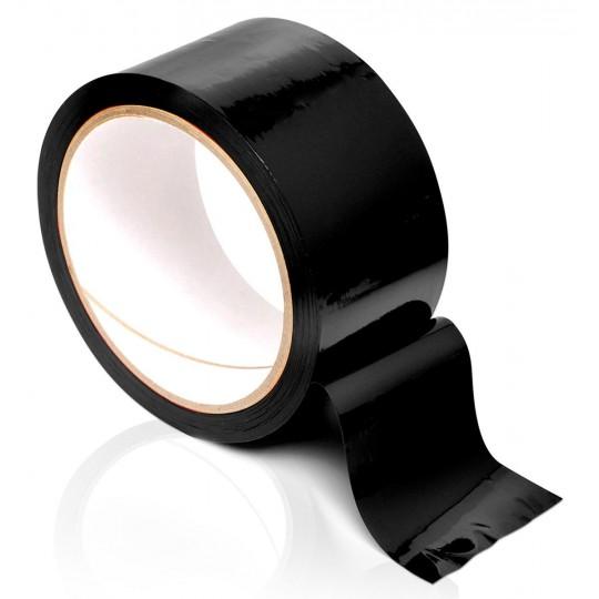 Черная самоклеющаяся лента для связывания Pleasure Tape - 10,6 м. (цвет -черный) (10906) фото 1
