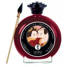 Декоративная крем-краска для тела с ароматом шампанского и клубники(11246)