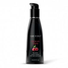 Лубрикант с ароматом сладкой вишни WICKED AQUA Cherry - 120 мл.(116537)