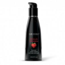 Лубрикант с ароматом клубники WICKED AQUA Strawberry - 120 мл.(117246)