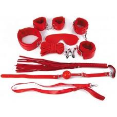 Пикантный красный набор БДСМ (цвет -красный) (119033)