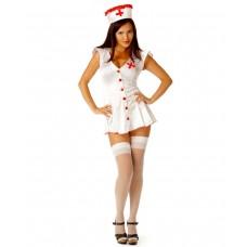 Костюм сексапильной медсестры (цвет -белый)  (размер -S-M) (12650)