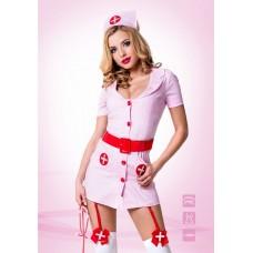 Розовый костюм похотливой медсестры (цвет -розовый)  (размер -S-M) (12694)