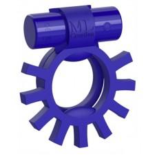 Синее перезаряжаемое эрекционное виброкольцо Super Ring (цвет -синий) (133722)