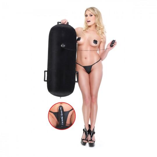 Надувная подушка с виброфаллосом Inflatable Luv Log (цвет -черный) (14005) фото 5
