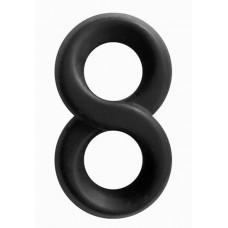 Черное эрекционное кольцо-восьмерка Infinity Ring (цвет -черный) (141237)
