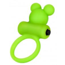 Зеленое виброкольцо на пенис A-Toys (цвет -зеленый) (146061)