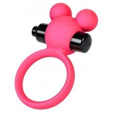Розовое виброкольцо на пенис A-Toys (цвет -розовый) (146062)
