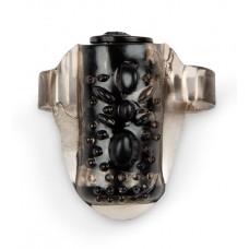 Черное эрекционное кольцо на член с вибрацией (цвет -черный) (154392)