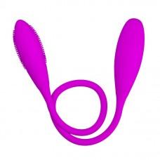 Двусторонний перезаряжаемый вибратор Snaky Vibe на гибком стержне - 60 см. (цвет -лиловый) (62470)
